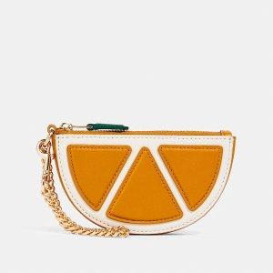 Coach橙子零钱包