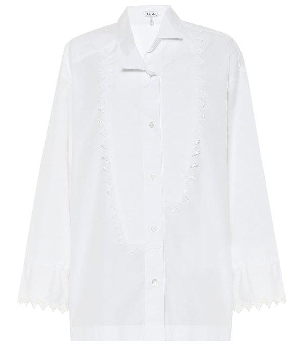 白色衬衫上衣