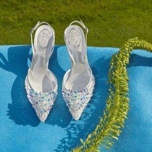 低至5折 水钻凉鞋$873Rene Caovilla 满足公主梦灰姑娘水晶鞋 漫天星辰闪耀