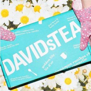 礼包低至7.5折 茶品低至8折David's Tea 母亲节专场 让妈妈喝茶变年轻 精美茶饮礼盒$25收