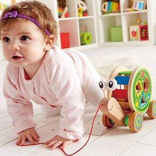 低至$13.85Hape 木质儿童益智玩具,收骑行小车、5面体学习玩具