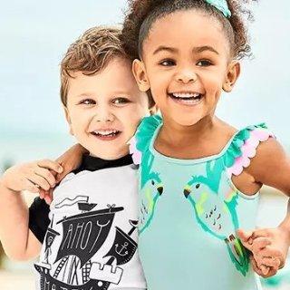 $10起 大童3件套仅$12Carter's童装官网 防晒面料泳装低至2.8折开门大抢购