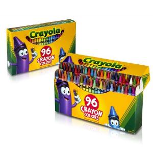 $4.57(原价$7.99)Crayola儿童蜡笔96支装(包括削笔刀)