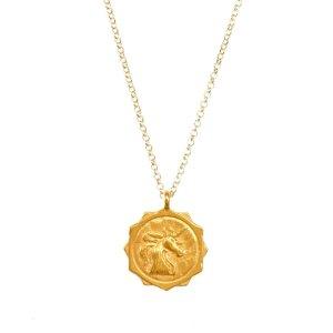 Dogearedthe unicorn coin necklace