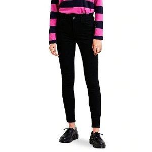 Levi's衣橱必备款720 高腰修身小黑裤