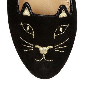 Charlotte Olympia Women's Designer Flat Shoes | Charlotte Olympia - KITTY FLATS