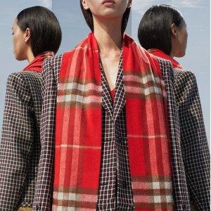 英伦围巾仅¥1000+  直邮中国Burberry 包包服饰精选热卖,经典马甲仅¥3000+