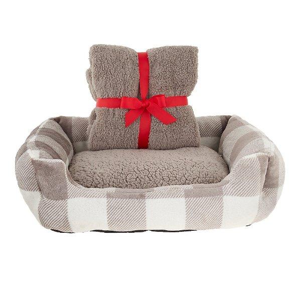 宠物床+毯子