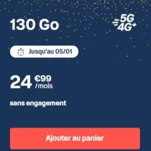 无合约 只要€24.99Bouygues Telecom布依格 迎来5G时代 130G流量套餐限时优惠