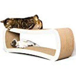 Amazon.com : PetFusion Jumbo Cat Scratcher Lounge (White). [Superior Cardboard & Construction, significantly outlasts cheaper alternatives] : Pet Supplies