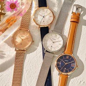 6折Fossil 时装腕表热卖,好价收杰奎琳、查理 Mini 系列