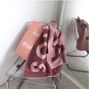 7.5折起 €152收logo围巾Acne Studios 震撼地板价 围巾、T恤、开衫冷帽等你入手