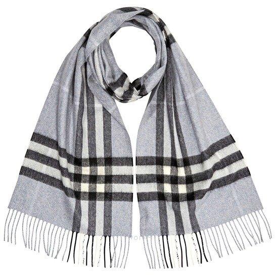 The Classic Check 灰色格纹围巾
