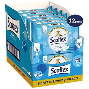 Scottex首单订阅8.5折,富含维生素E,中性ph湿厕纸 40张*12包
