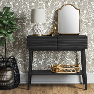 Palmetto Cut and Groove Console Table Black - Opalhouse