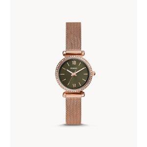 Fossil时尚玫瑰金腕表