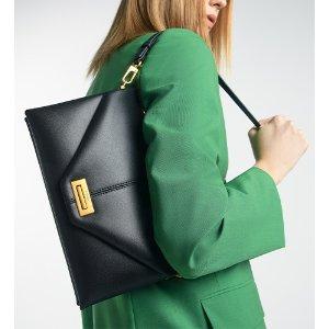 Pedro ShoesEnvelope Leather Shoulder Bag - Black