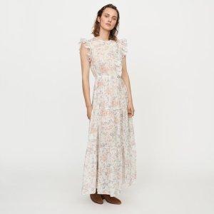印花连衣长裙