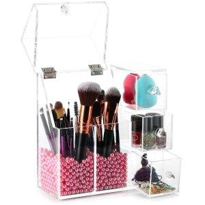 现价$29.99(原价$39.99)即将截止:HBlife 化妆刷、美妆蛋亚克力防尘收纳盒 带免费珍珠