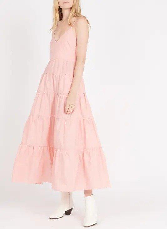 粉色连衣裙