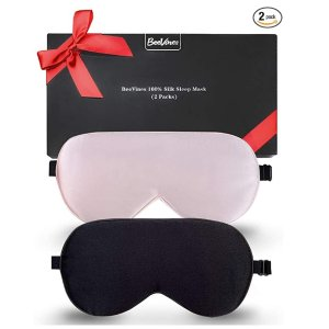 BeeVines 真丝眼罩2件套