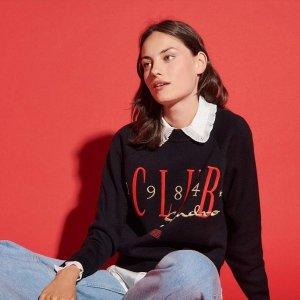 €215收封面同款毛衣Sandro 秋冬新款热卖 收小香风针织外套、logo毛衣、皮草外套