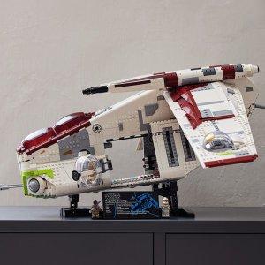 $479.99 8月1日上市新品预告:LEGO 星战 共和国炮艇 75309,2021年首款UCS之作