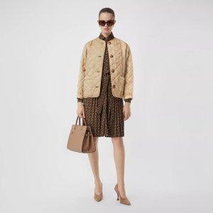 Burberry菱纹棉外套