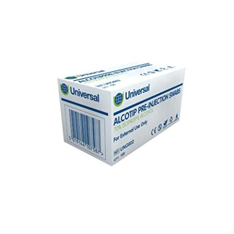 售价£4.44补货:Alcotip 酒精消毒清洁棉片 100片装 特殊时期必备