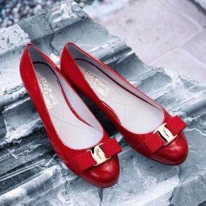 最高送$500Salvatore Ferragamo 鞋包等热卖 收优雅蝴蝶结平底鞋