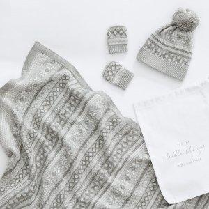婴儿毛毯+帽子+手套