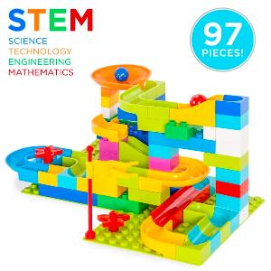 $19.79+包邮 经典STEM玩具97件套滚珠管道套装 集合机械技巧及工程原理于一身