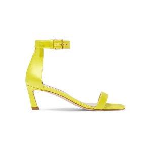 Stuart WeitzmanSquareNudist satin sandals