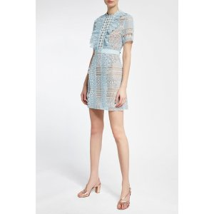 Self-Portrait- Lace Mini Dress