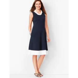 TalbotsBuy 2 get 70% off  price after promotionEdie Fit & Flare Dress - Colorblock