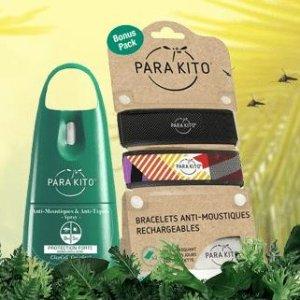 7折起 2片替换装低至€3.49法国打折季2021:Parakito防蚊手环 纯天然配方 大人儿童都能用