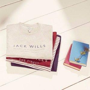 5折+额外9折Jack Wills 英国品牌男装大促 年轻人最爱 英伦校园风混搭