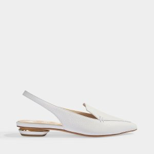 Nicholas Kirkwood18mm Beya Slingbacks in White Bottalato Leather