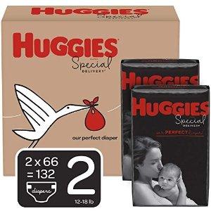 Huggies防过敏尿不湿 2号(12-18 磅.), 132 片