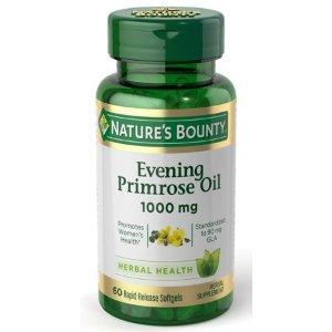 Nature's Bounty Evening Primrose Oil 1000mg, 60ct - Walmart.com