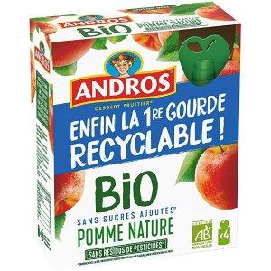 ANDROS亚马逊销冠,满4件享9.5折有机儿童果泥 90g*4(苹果味)