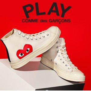 5折起 Play小爱心仅£108Farfetch 鞋靴大促 收CDG小爱心、Dr Martens、Yeezy