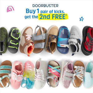 买1送1+包邮 上新水鞋 婴儿到14岁码最后一天:OshKosh BGosh 新鞋上市 凉鞋、透气运动鞋都有
