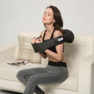 $33Belmint Shiatsu Back and Neck Massager with Heat Deep Kneading Massage