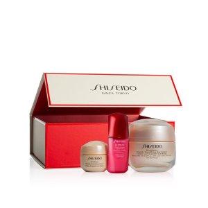 Shiseido50ml+15ml面霜+10ml红腰子盼丽风姿面霜套装(价值$136)