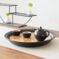 南山先生雁南飞黑陶干泡套装 大号茶盘功夫茶具整套茶具陶瓷储水