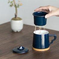 南山先生 【自营】南山先生 创意马克杯茶杯过滤日式陶瓷杯子个性定制