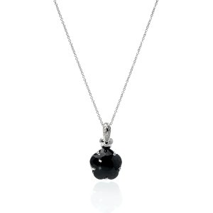 Coupon code DMPBE87918K White Gold Diamond And Onyx Necklace 13300B