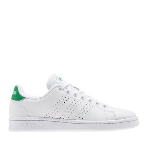 AdidasAdvantage 女士绿尾小白鞋