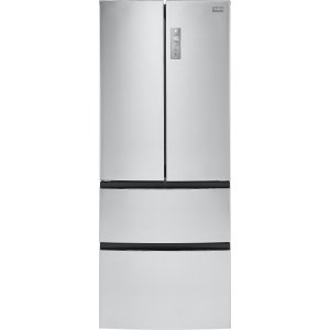Haier HRF15N3AGS 28 Inch 4-Door Counter Depth French Door Refrigerator with 14.9 cu. ft. Capacity, Double Freezer Drawers, Quick Cool, Quick Freeze, Smudge Resistant, LED Lighting, and Sabbath Mode